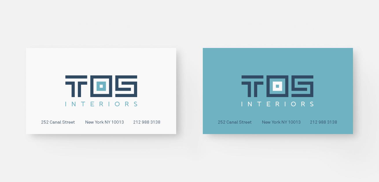 Custom interior logo design business cards