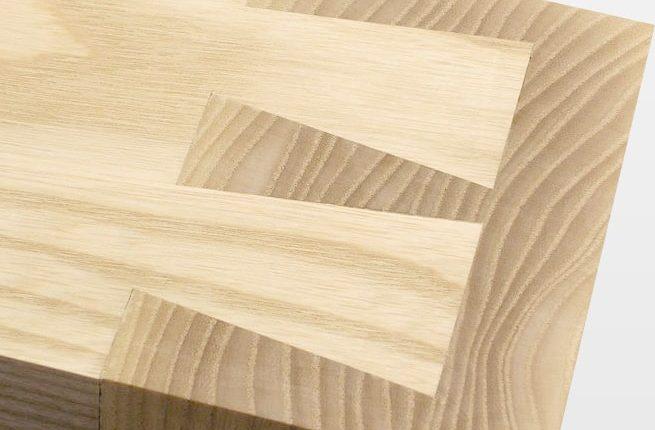 Custom wood joinery logo concept