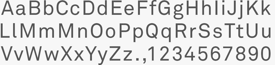 Custom akkurat font