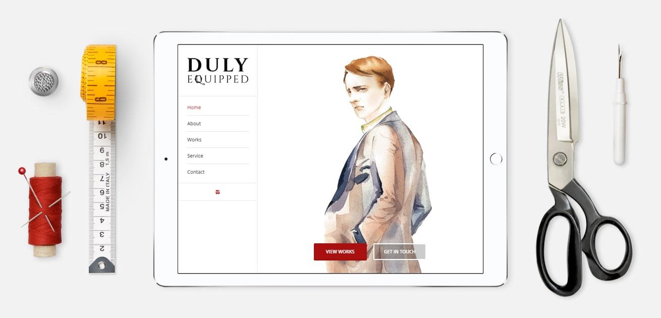 Custom tailor website design featured