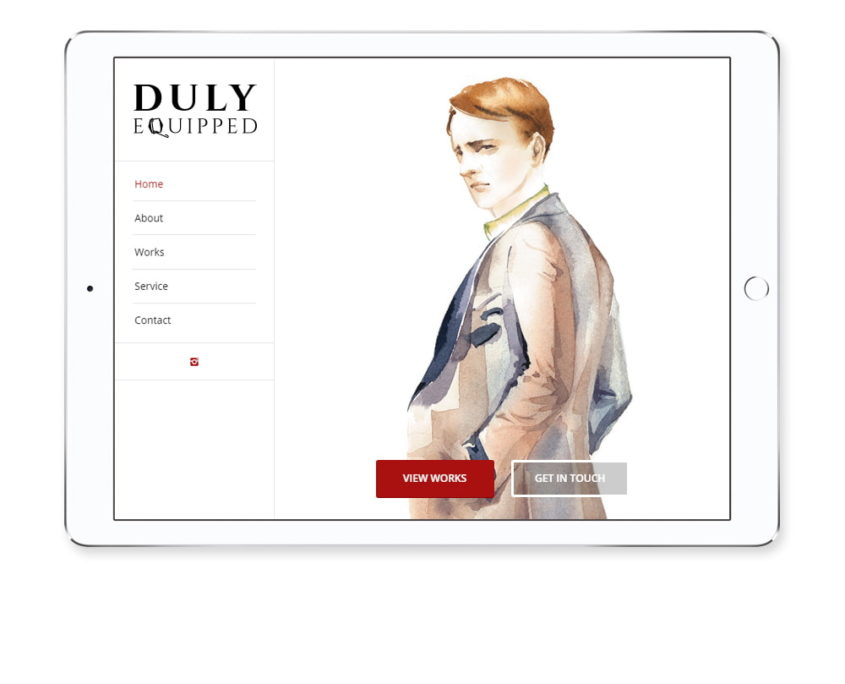 Bespoke tailor website design featured