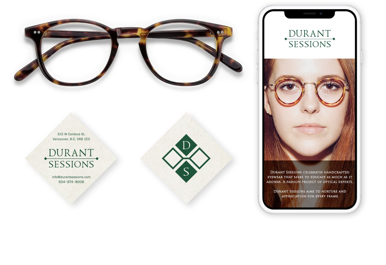 Custom eyewear brand identity featured home
