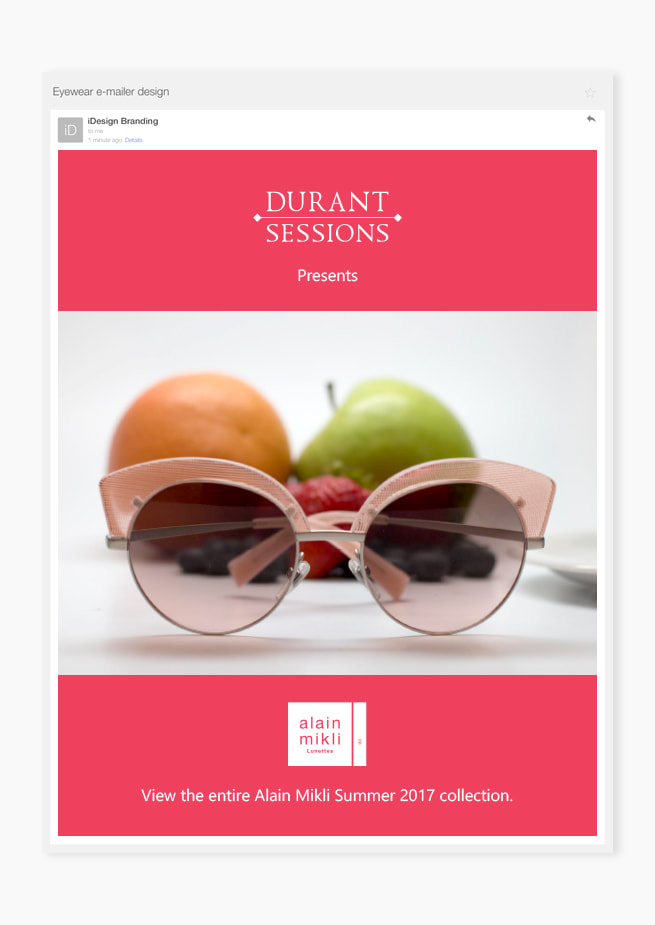 Custom eyewear emailer optical frame design
