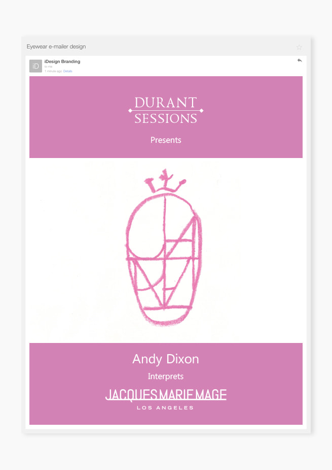 Custom eyewear emailer optical frames design