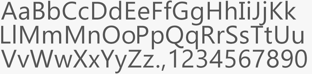 Custom Gadugi font