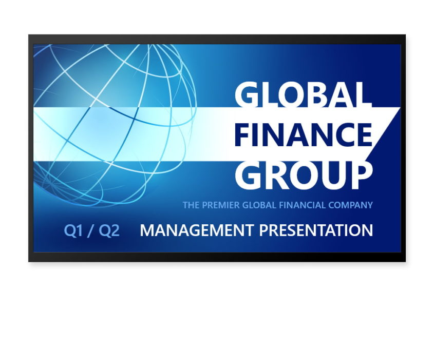 Custom financial business presentation design featured
