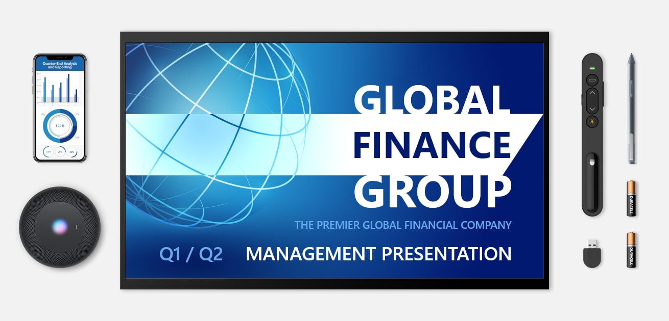 Custom financial powerpoint presentation featured