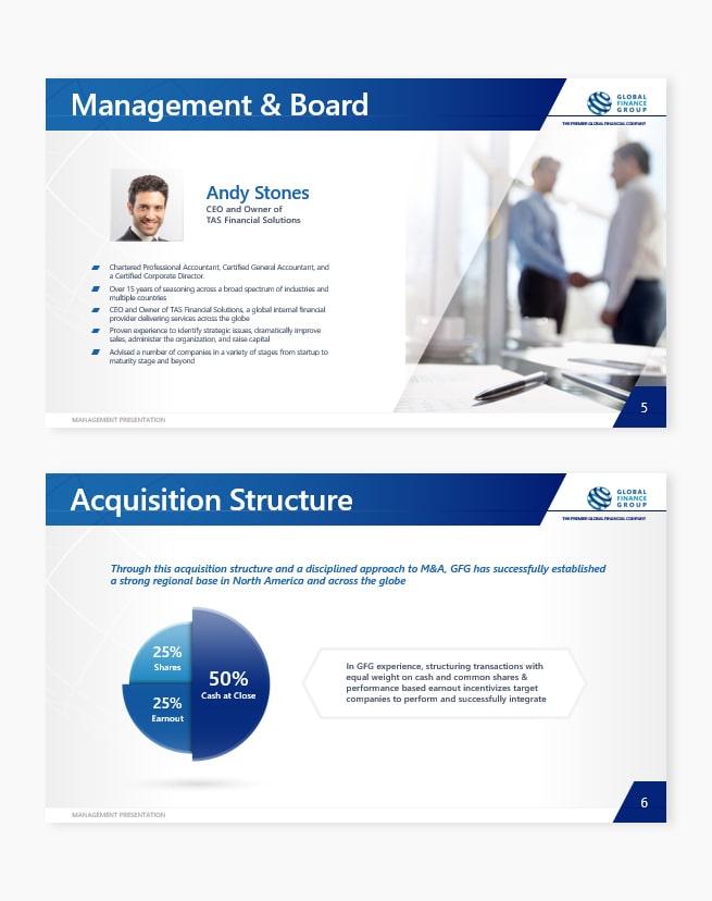 Custom management acquisition pages