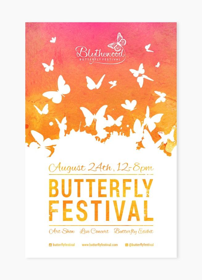 Custom butterfly poster design
