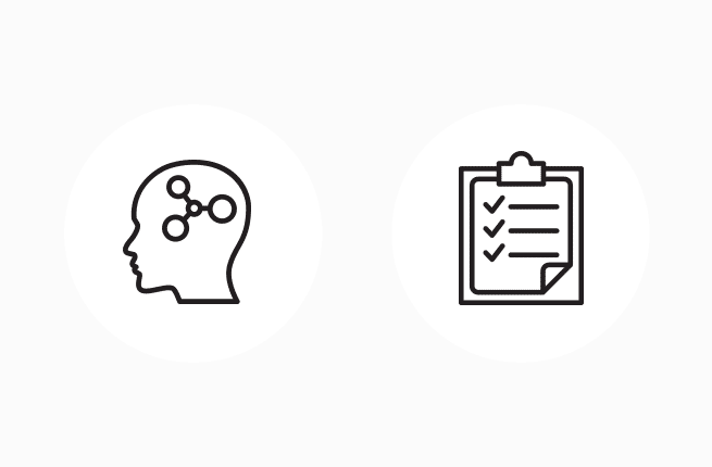Custom intellectual results icons