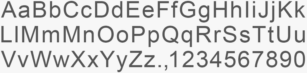 Custom Arial Sans font