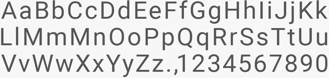 Custom Roboto Sans font