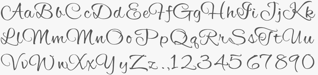 Custom Alex Brush font