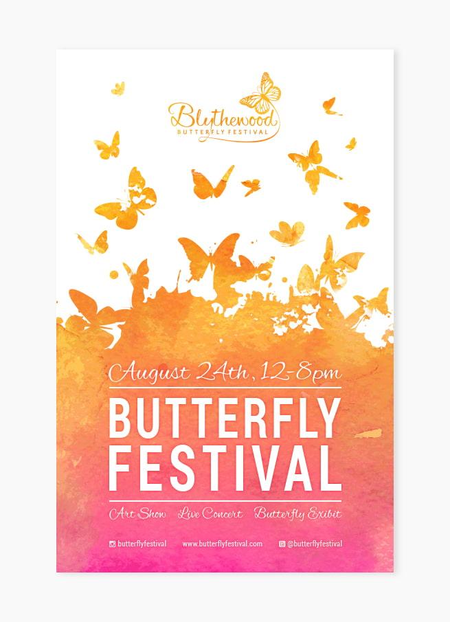 Custom festival poster design
