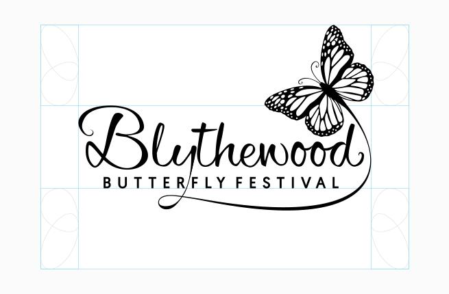 Custom festival logo design sketch