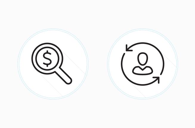 Custom acquisition overhead icons