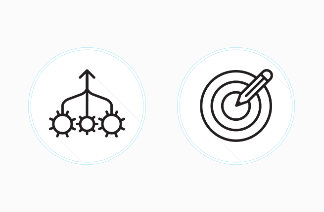 Custom consolidation market icons